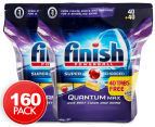 2 x Finish Powerball Quantum Max Supercharged Dishwashing Tabs Lemon Sparkle 80pk 1
