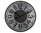 Metallic 60cm XL Contra Clock - Brown 1