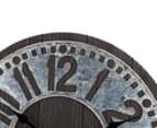 Metallic 60cm XL Contra Clock - Brown 5