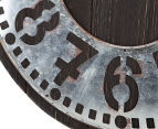 Metallic 60cm XL Contra Clock - Brown 6