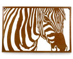 Classique Collection Hi-Gloss Textured Zebra Profile Wall Art 1