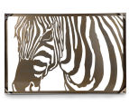 Classique Collection Hi-Gloss Textured Zebra Profile Wall Art 3