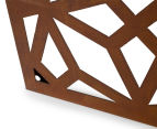 Laser Cut Rustic Geometric 108x90cm Metal Wall Hanging Screen 5