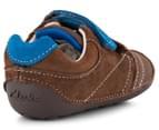 Clarks Toddler Tiny Jet Shoe - Brown/Blue 5