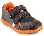 Clarks Kids' Hayden Shoe - Black/Orange 2