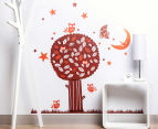 Night Owl Tree Wall Decal/Sticker 1