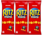 3 x RITZ Mini Original 150g 6pk 1