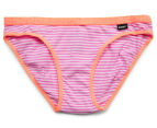 Bonds Girls' Hipster Bikini 2-Pack - Stripe 64 3