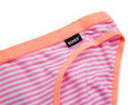 Bonds Girls' Hipster Bikini 2-Pack - Stripe 64 5