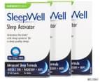 3 x Naturopathica SleepWell Sleep Activator 30 Caps 1