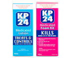 KP24 Head Lice Medicated Lotion, Foam & Comb Kit 2