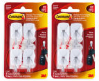2 x 3M Command Damage-Free Hanging Small Wire Hooks 4pk - White 1