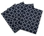 Sheridan Branford 51x76cm 4-Pack Tea Towel Set - Navy 1