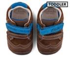 Clarks Toddler Tiny Jet Shoe - Brown/Blue 1