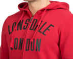 Lonsdale Men's Aiden Zip Hoodie - Deep Red/Black 6