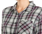 Rusty Women's Recorder Long Sleeve Flannel Shirt - Char 6