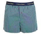Calvin Klein Men's Slim Fit Boxer - Navy/Dark Green 1
