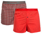 Calvin Klein Men's Slim Fit Boxers 2-Pack - Red 1