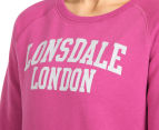 Lonsdale Women's Heather Sweater - Magenta Haze 6