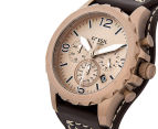 Fossil Men's 50mm Nate Chronograph Leather Watch - Dark Brown 3