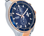 Fossil Men's 45mm Wakefield Chronograph Two-Tone Watch - Silver/Rose Gold 2