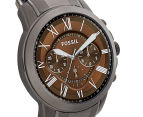 Fossil Men's 44mm Grant Chronograph Watch - Smoke 2