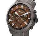 Fossil Men's 44mm Grant Chronograph Watch - Smoke 3