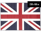 Funky Union Jack 230 x 160cm Rug - Blue/Red/White 1