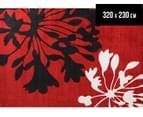 Spider Lily 320 x 230cm Zen Rug - Red 1