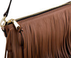 Cooper St Soul Leather Fringe Sling Bag - Tan 5