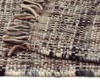 Handwoven Pure Wool Flatweave 225x155cm Rug - Slate 5
