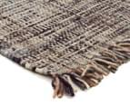 Handwoven Pure Wool Flatweave 320x230cm Rug - Slate 2