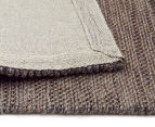 Handwoven Wool & Jute Flatweave 225x155cm Rug - Grey 5