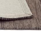 Handwoven Wool & Jute Flatweave 280x190cm Rug - Grey 5