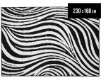 Hot Dash Zebra 230x160cm Jute Rug - Black/White 1