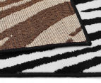 Hot Dash Zebra 230x160cm Jute Rug - Black/White 4