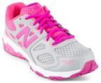 New Balance Grade-School Kids' KR680ASY Lace Shoe - Grey/Pink 2