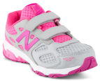 New Balance Pre-School Kids' KV680ASY Velcro Shoe - Grey/Pink 2
