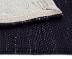 Handwoven Wool & Jute Flatweave 225x155cm Rug - Midnight 5