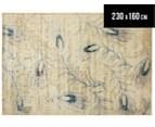 Urban Floor Art Peacock Feathers 230x160cm Jute Rug - Cream 1