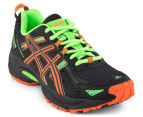 ASICS Kids' GEL-Venture 5 GS Shoe - Black/Flame Orange/Green Gecko 2