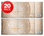 2 x Kleenex Ultra Soft Pocket Tissue Pack 10pk 1