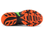 ASICS Kids' GEL-Venture 5 GS Shoe - Black/Flame Orange/Green Gecko 6