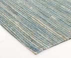 Scandi Floors Artisan Hemp 320x230cm Rug - Turquoise 2