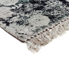 Handwoven Viscose & Cotton Flatweave 225x155cm Rug - Green 2