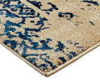Urban Floor Art Ancient 330x240cm Jute Rug - Blue/Cream 2