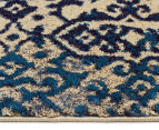 Urban Floor Art Ancient 330x240cm Jute Rug - Blue/Cream 3