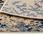 Urban Floor Art Ancient 330x240cm Jute Rug - Blue/Cream 5