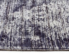 Handwoven Viscose & Cotton Flatweave 280x190cm Rug - Navy 3