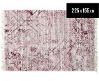 Handwoven Viscose & Cotton Flatweave 225x155cm Rug - Rose 1